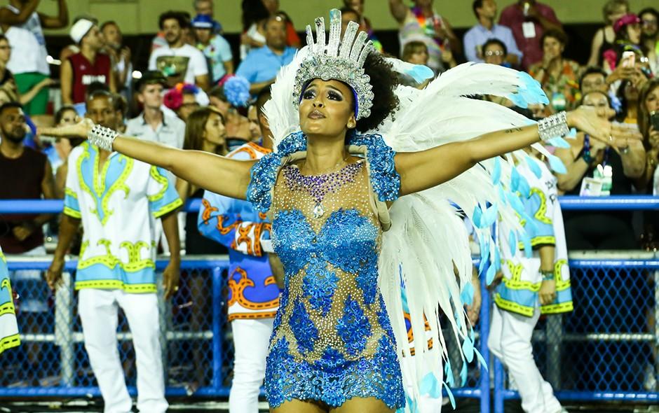 Sheron Menezzes, destaque da Portela (Foto: Roberto Filho/Brazil News)