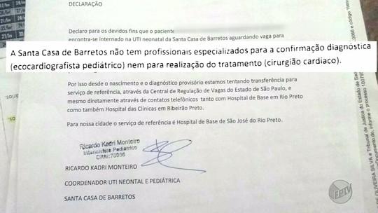 Família faz 'vigília' por vaga para bebê com doença no coração em Barretos, SP
