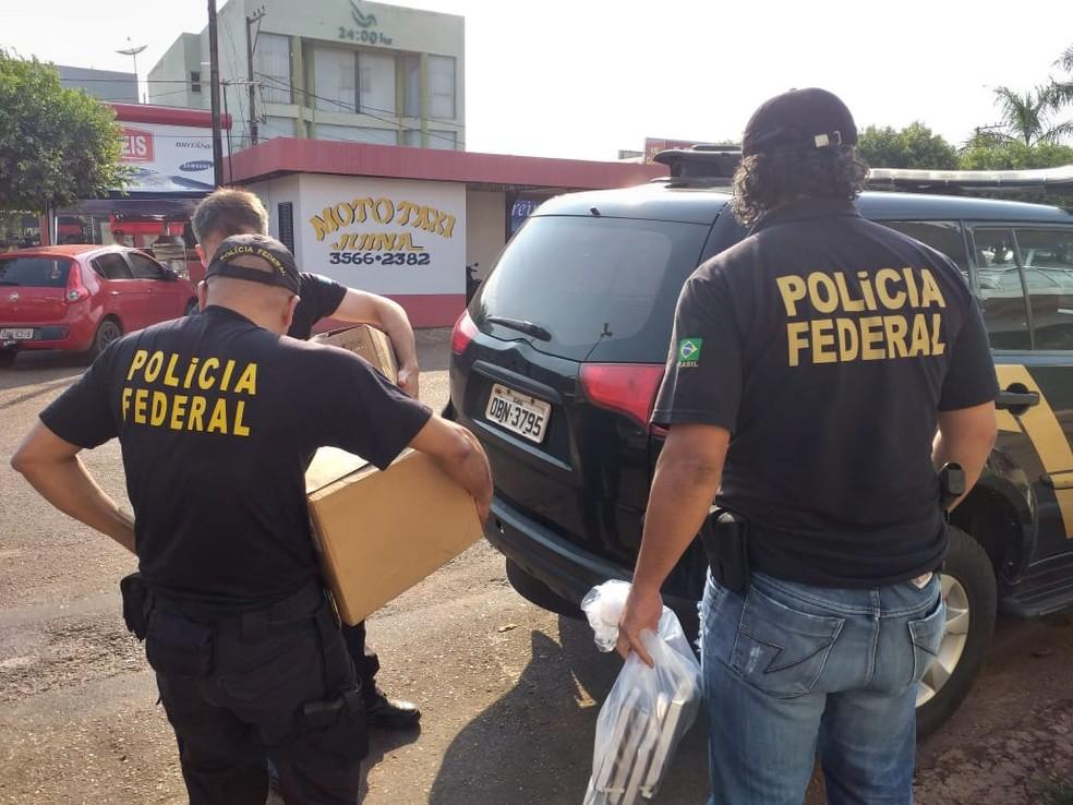 Operação Trypes — Foto: Polícia Federal de Mato Grosso/Assessoria