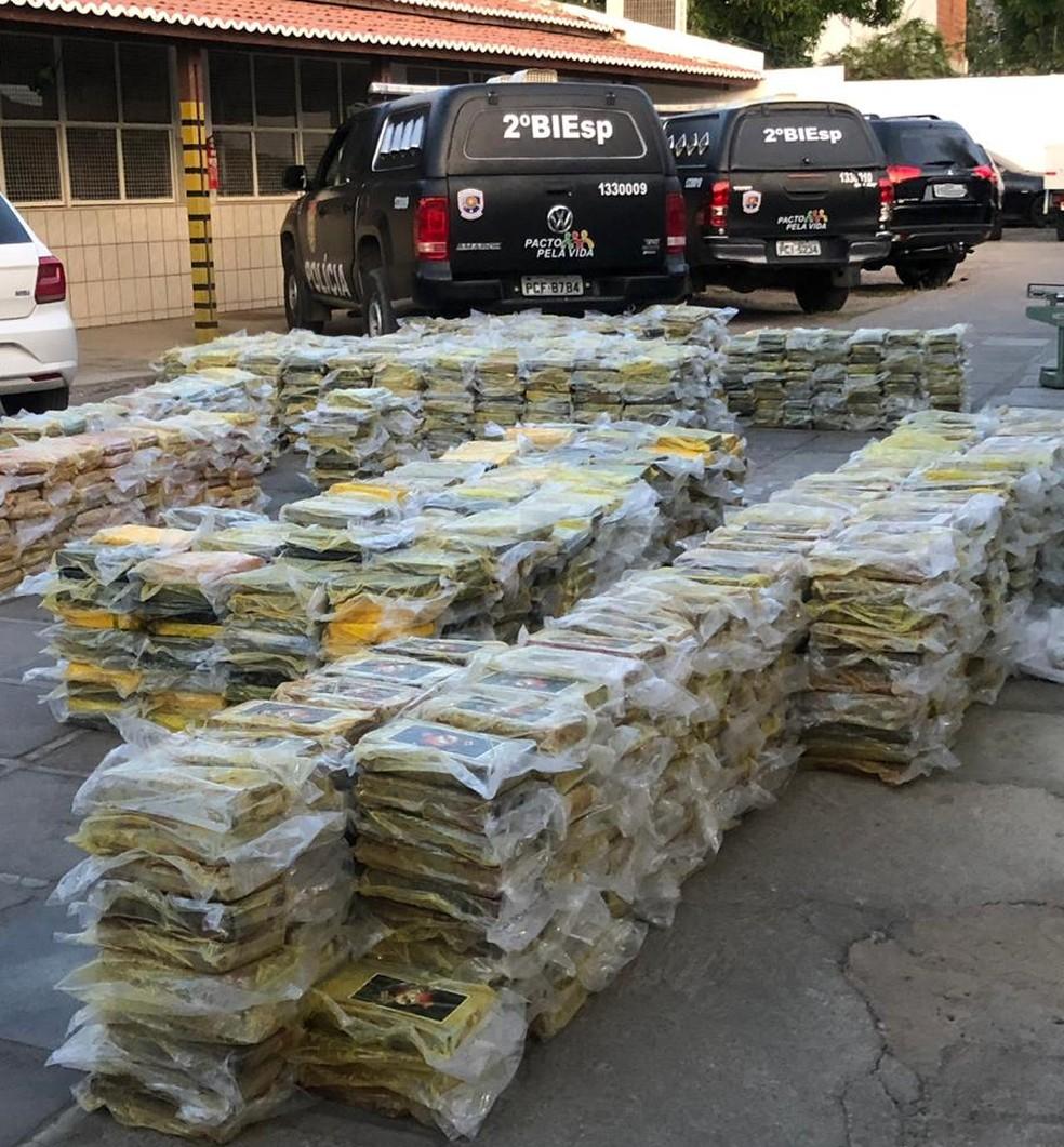 Operação apreende mais de duas toneladas de cocaína em Petrolina. — Foto: Polícia Militar de Pernambuco