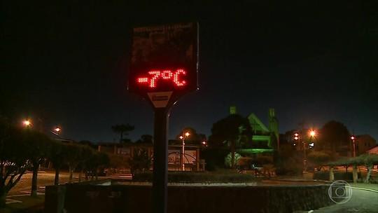 Serra catarinense registra mínima de -9°C e geada nesta quarta-feira; FOTOS