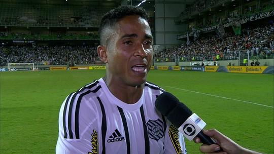 Jorge Henrique lamenta eliminação do Figueirense diante do Atlético-MG na Copa do Brasil