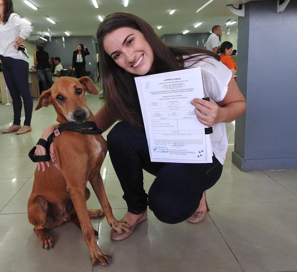 O cão Gaspar Lapóla foi o primeiro pet registrado em Boa Vista (Foto: Valéria Oliveira/G1 RR)