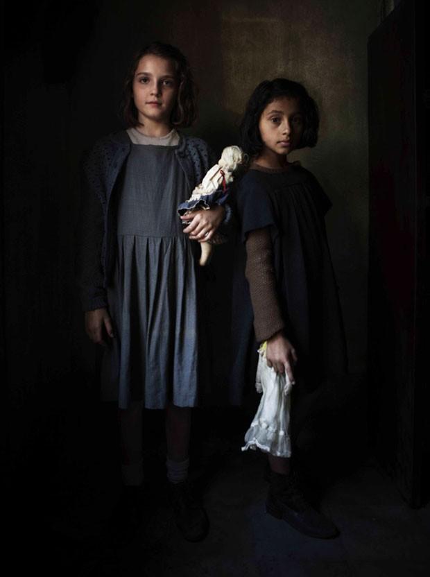 Elisa Del Genio e Ludovica Nasti: as protagonistas de Amiga Genial quando crianças (Foto: Divulgação/HBO)