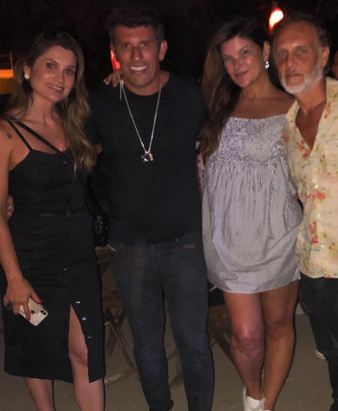 Flavia Alessandra, Milhem Cortaz e Cristiana Oliveira (Foto: Reprodução Instagram)