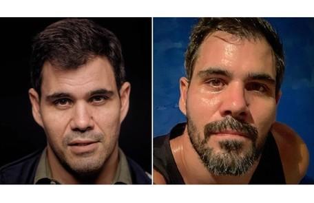 Juliano Cazarré, de 'Amor de mãe', apareceu de cavanhaque ao compartilhar seu treino na web Divulgação e Reprodução