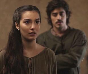 Marina Moschen é Selana em 'Deus salve o rei' | Reprodução