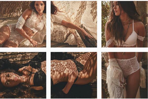 O ensaio da atriz e modelo Megan Fox para sua marca pessoal de lingerie (Foto: Instagram)