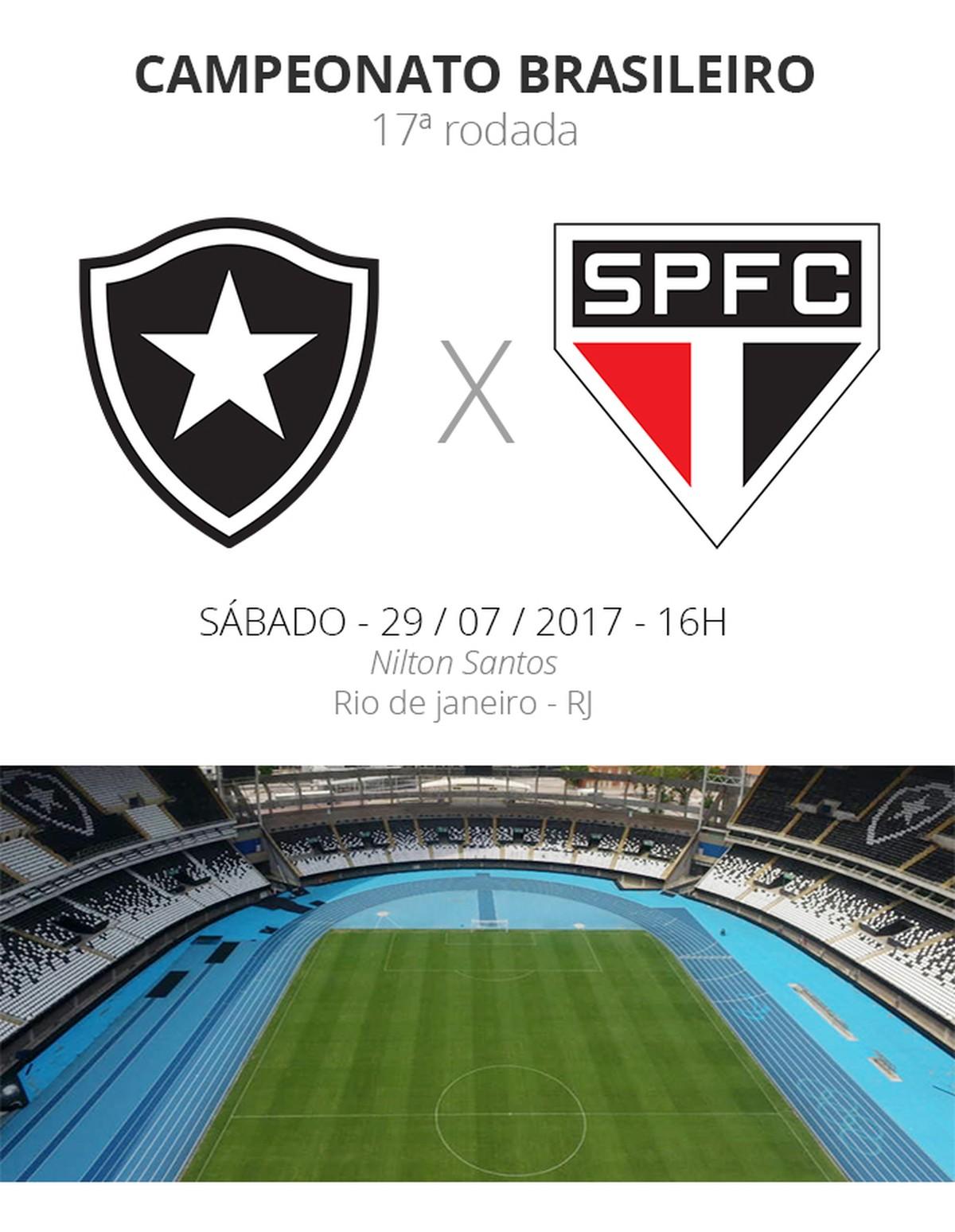 8e63db25bc Botafogo x São Paulo  saiba como comprar ingressos para a partida ...
