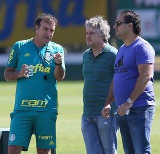 Cuca, Paulo Nobre, Alexandre Mattos Palmeiras (Foto: César Greco / Ag. Palmeiras / Divulgação)