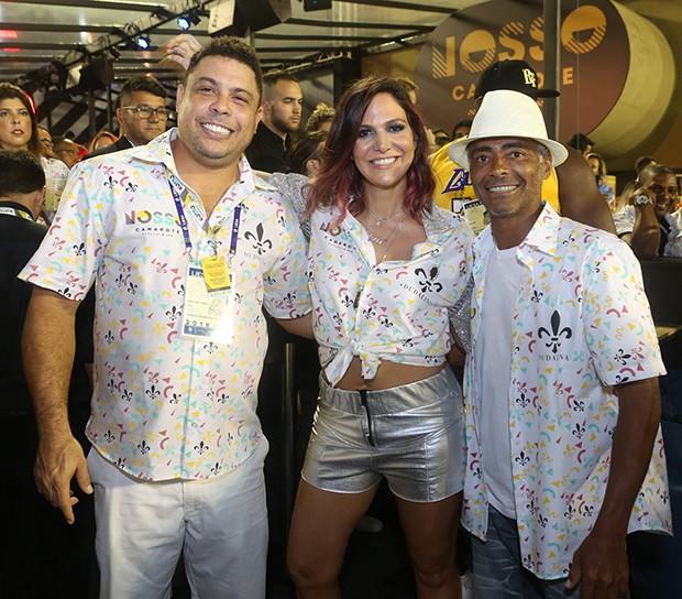Ronaldo, Carol Sampaio e Romário (Foto: RT Fotografia/ Brazil News/ CS Eventos/ Divulgação)