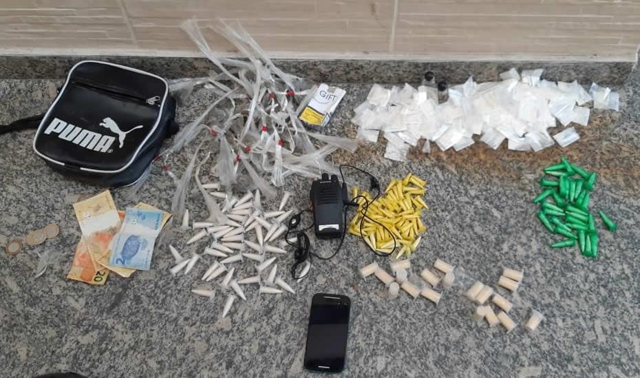 Homem é preso com drogas em Volta Redonda