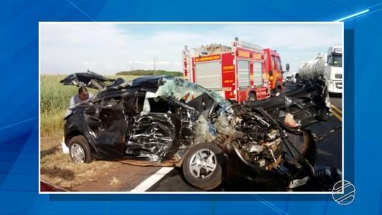 Motorista é multado em R$ 1,9 mil ao provocar acidente após ultrapassagem em MS; veja vídeo