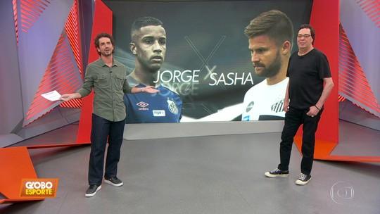 """Casagrande critica atrito entre Jorge e Eduardo Sasha, do Santos: """"Isso acaba no vestiário"""""""