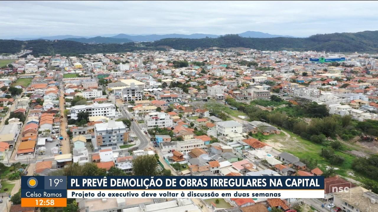 Projeto de lei prevê demolição de obras irregulares em Florianópolis