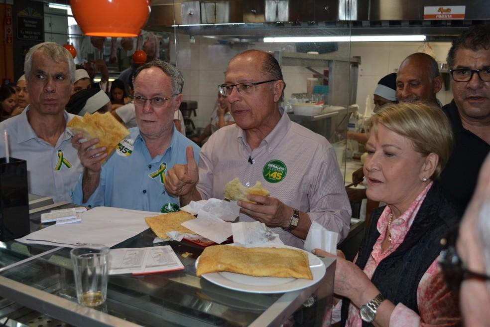 Geraldo Alckmin, candidato do PSDB à Presidência, durante visita a Piracicaba — Foto: Claudia Assencio/G1 Piracicaba e Região