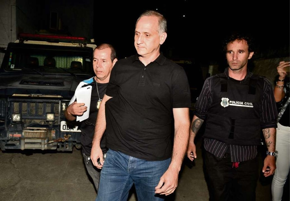Hilário Frasson foi preso na última quinta; Milena Gottardi foi morta com um tiro na cabeça (Foto: Fernando Madeira/ A Gazeta)