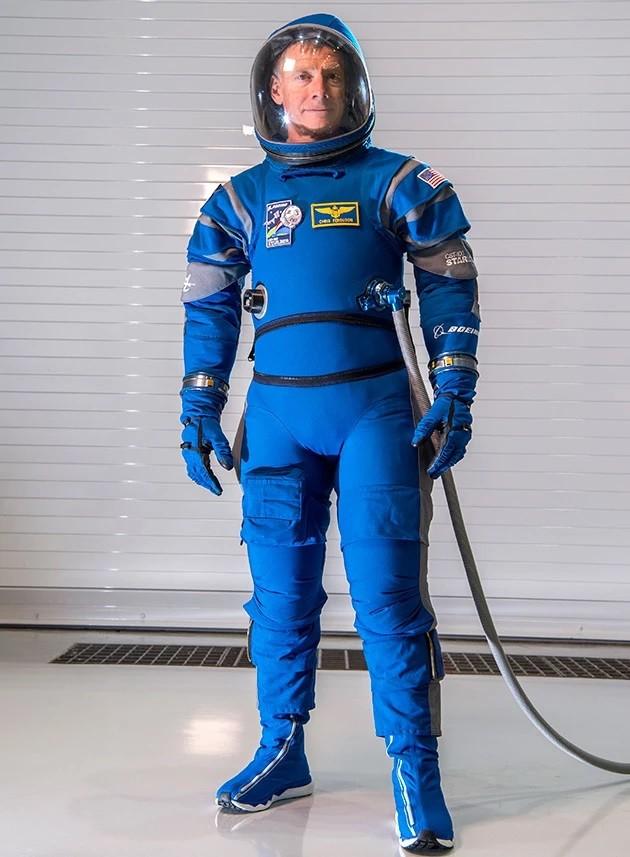 Boeing Starliner Blue Spacesuit
