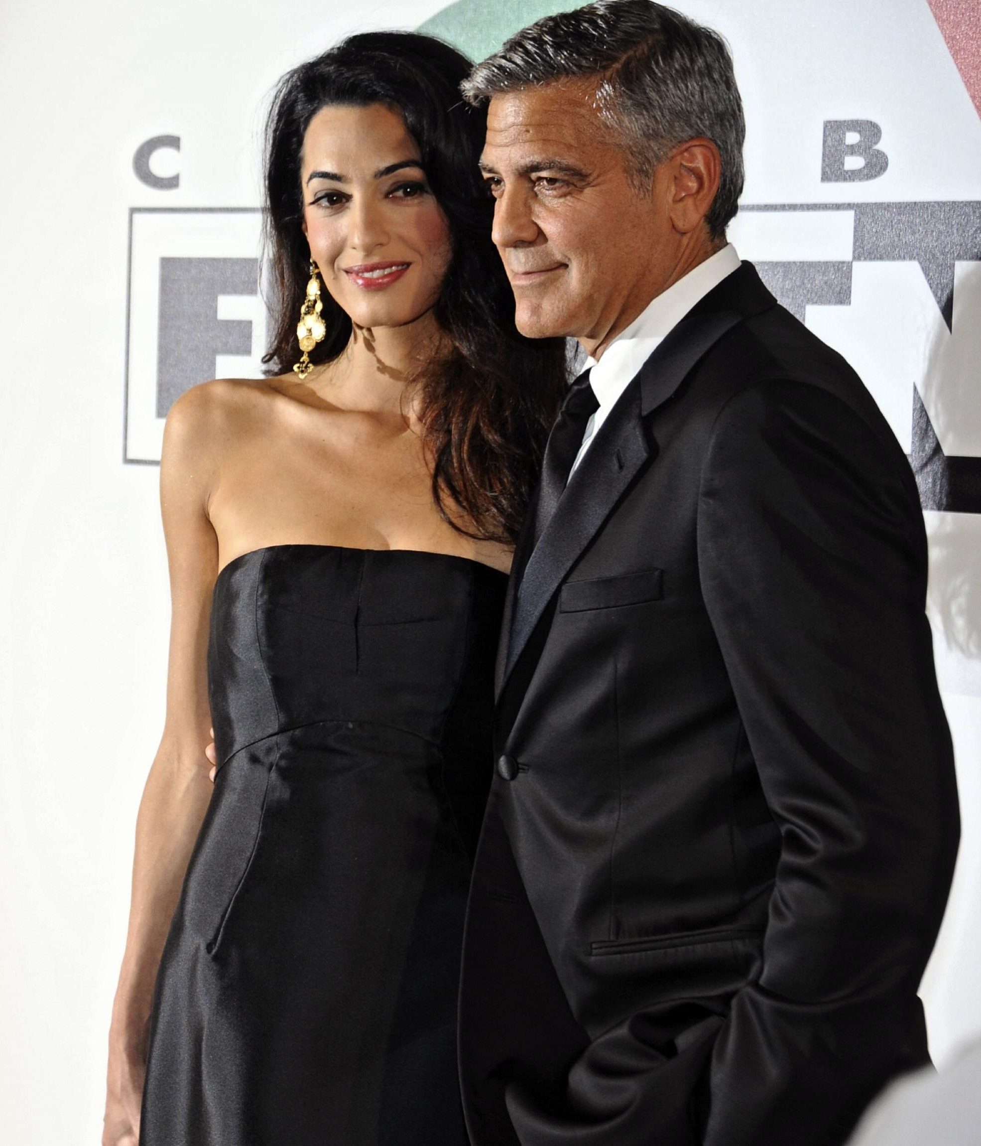 George Clooney e Amal Alamuddin (Foto: The Grosby Group)