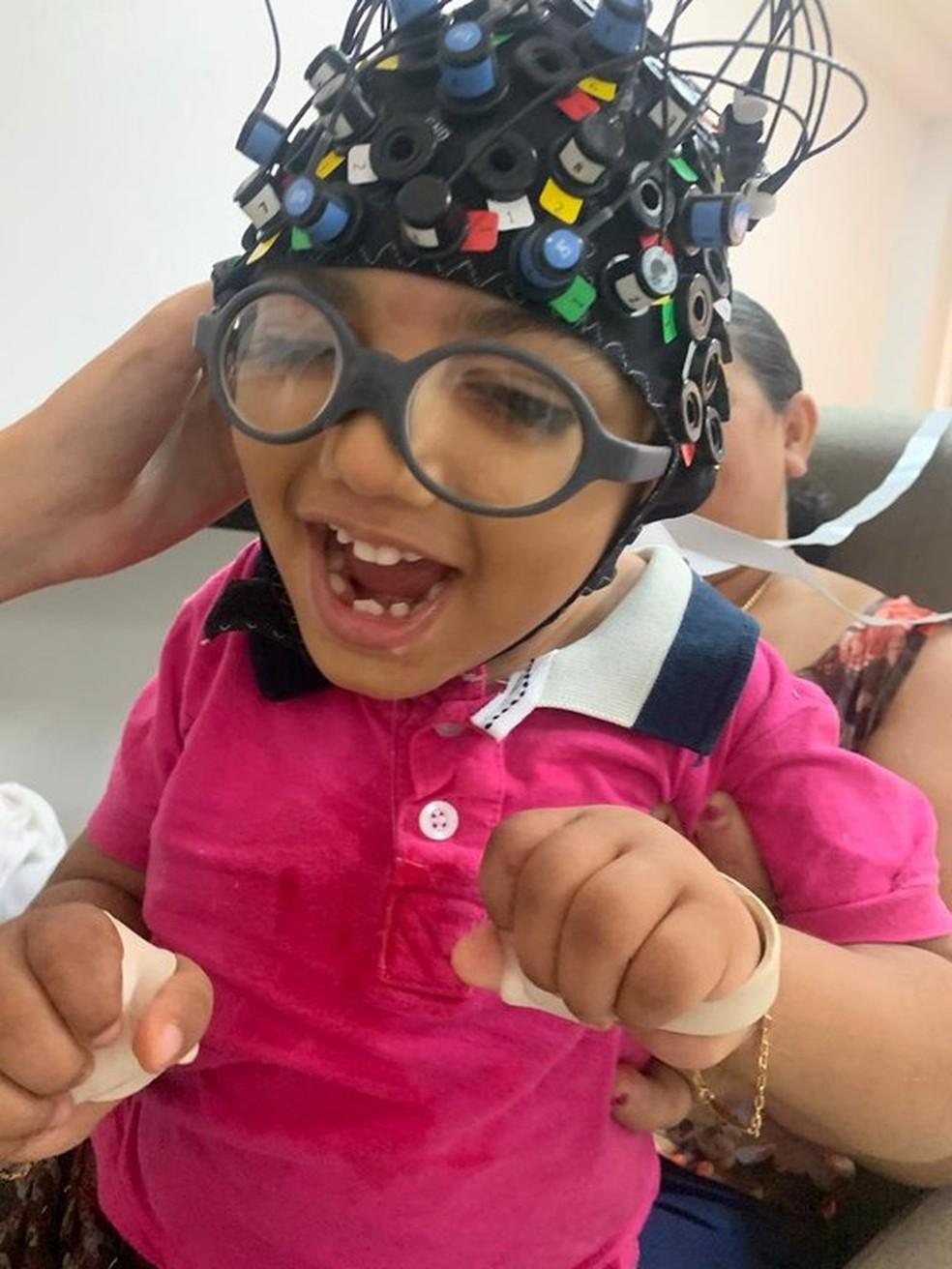 Pesquisa que identifica estímulo cerebral em crianças com microcefalia é pioneira na PB — Foto: Dilvugação/Rede Cuidar