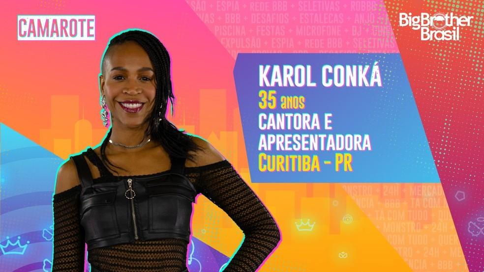 Karol Conká é participante do 'BBB21' — Foto: TV Globo