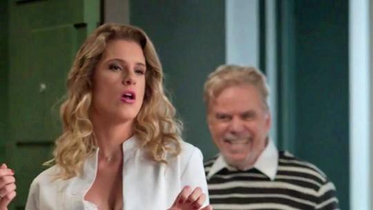 Teaser: Stelinha e Maurice contratam loiraça provocante para animar Arthur