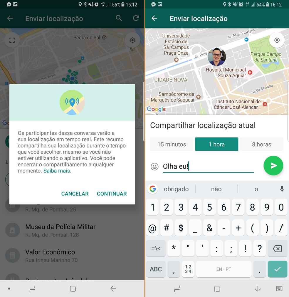 localizacao whatsapp - Com atraso, WhatsApp libera mapa com localização ao vivo dos amigos