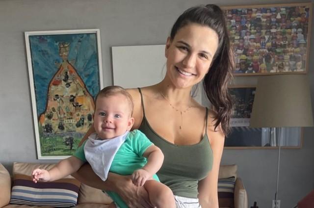 Kyra Gracie com o filho Rayan (Foto: Reprodução)