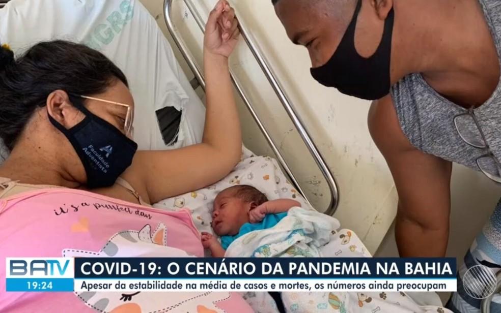 Recém-nascido com menos de um mês morreu em decorrência da Covid-19  — Foto: Reprodução/TV Bahia