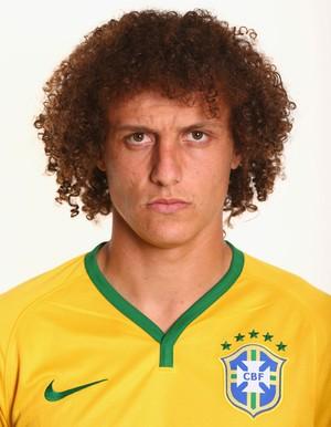 FOTO CRACHÁ Seleção brasileira - David Luiz (Foto: Agência Getty Images)