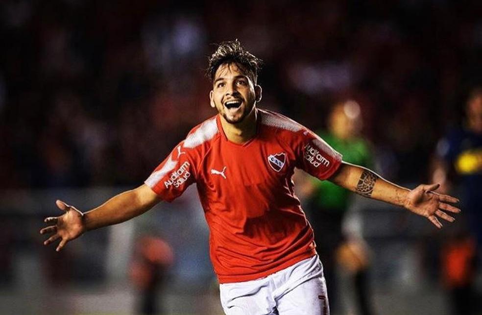Martín Benítez marcou 31 gols pelo Independiente — Foto: Reprodução / Instagram