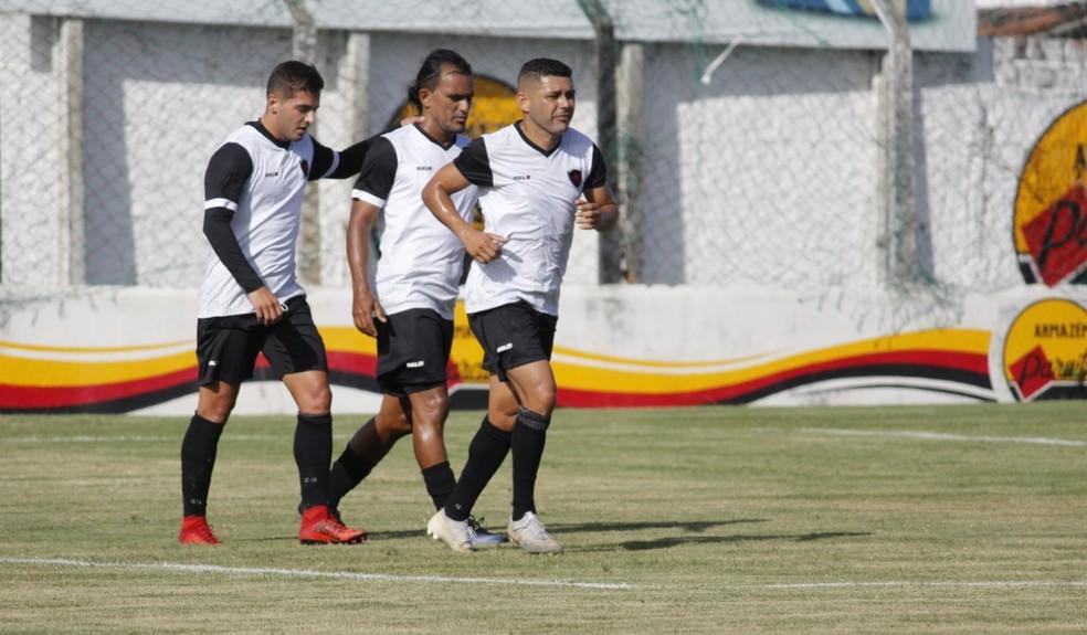 Botafogo-PB encerrou a pré-temporada com quatro vitórias, um empate e uma derrota — Foto: Nádya Araújo / Botafogo-PB