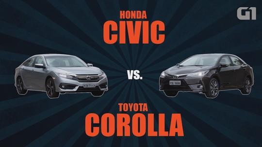 Toyota Corolla x Honda Civic: comparativo