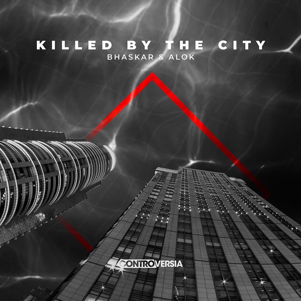 Capa do single 'Killed by the city', de Alok & Bhaskar — Foto: Divulgação