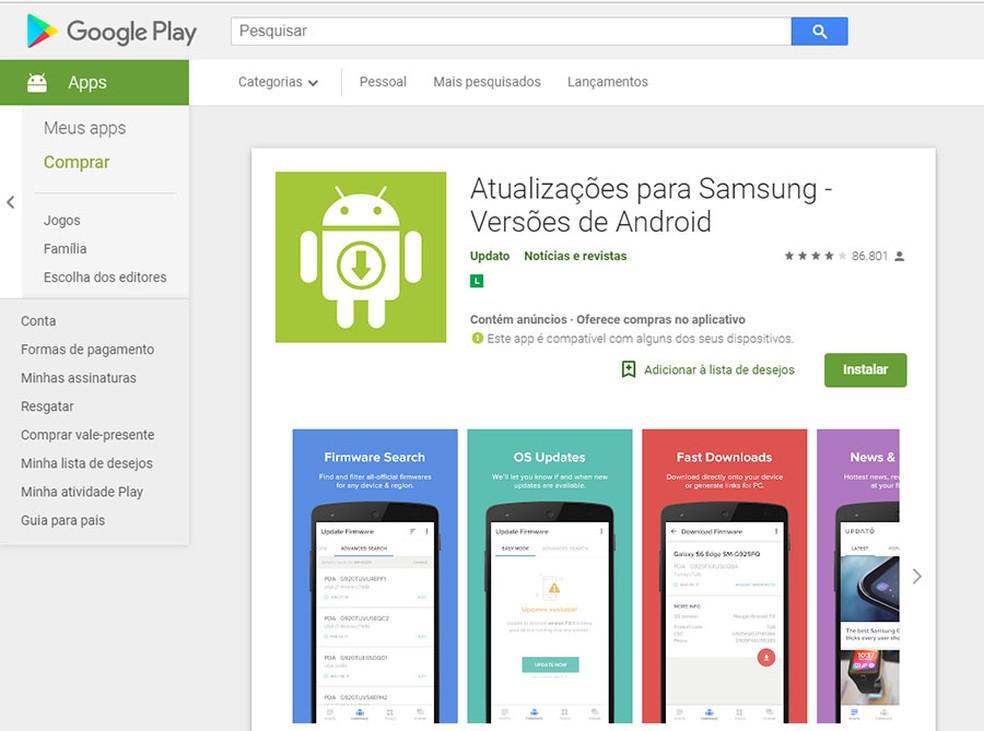 Aplicativo que prometia atualizações para celulares Samsung