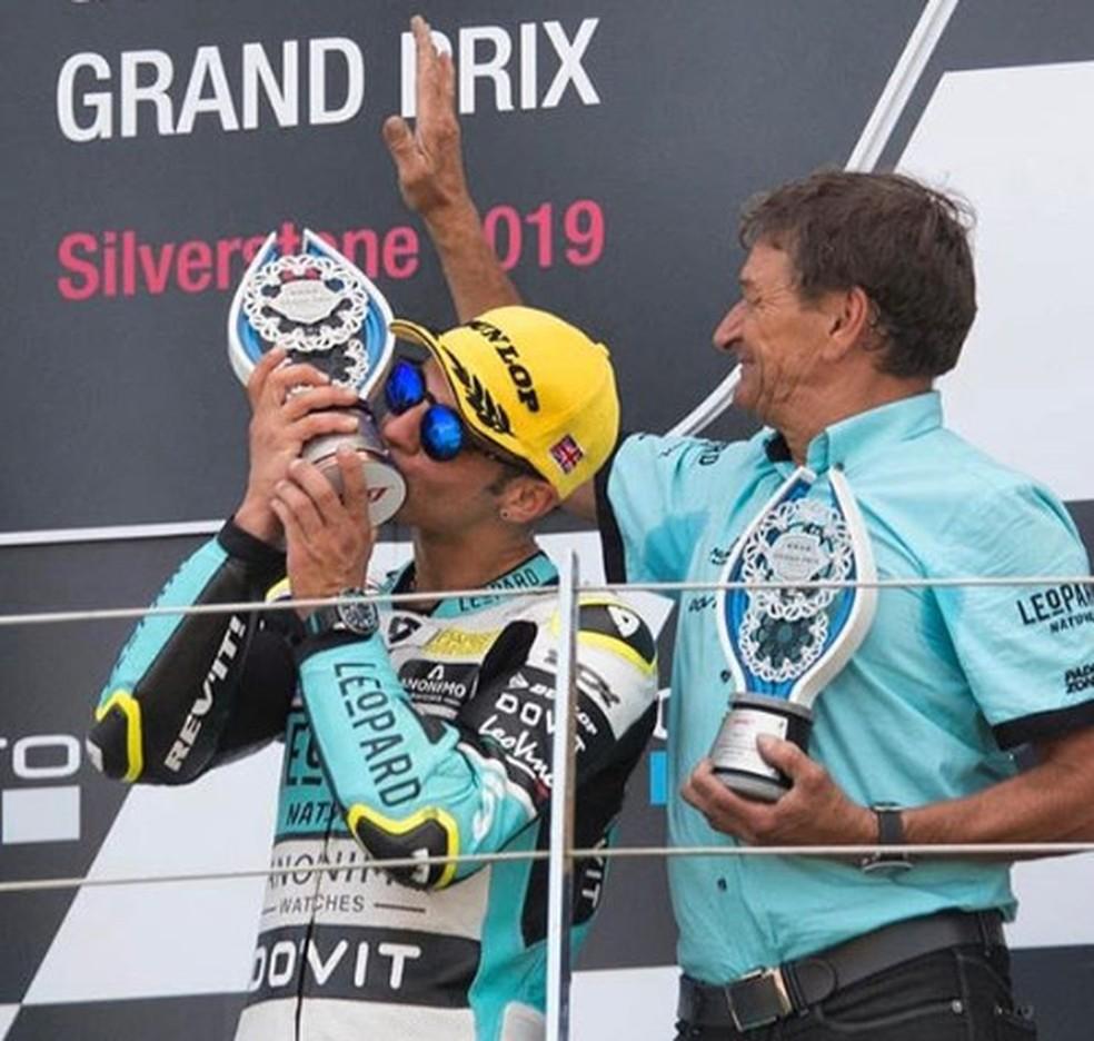 Dalla Porta P2 em Silverstone e P1 no Mundial de Moto3... — Foto: Internet
