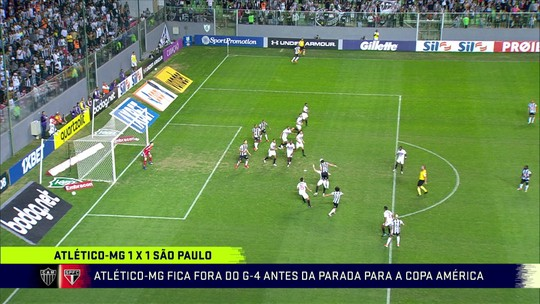 Comentaristas discutem lance polêmico que valeu o gol de Alerrandro para o Atlético-MG