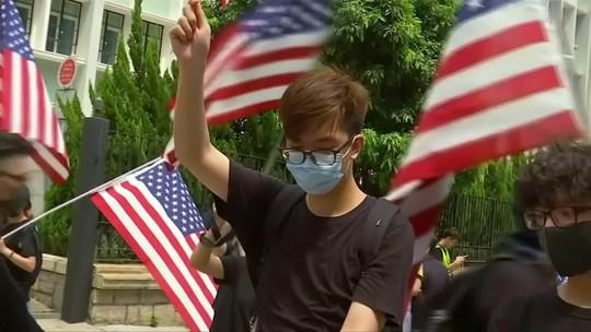 Estudantes fazem manifestações em Hong Kong