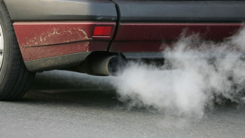 Chumbo da gasolina persiste no ar de Londres mais de 20 anos depois que seu uso como combustível foi proibido — Foto: Getty Images via BBC