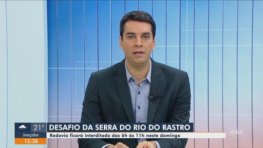 Prova de ciclismo interdita no domingo rodovia na Serra do Rio do Rastro em SC