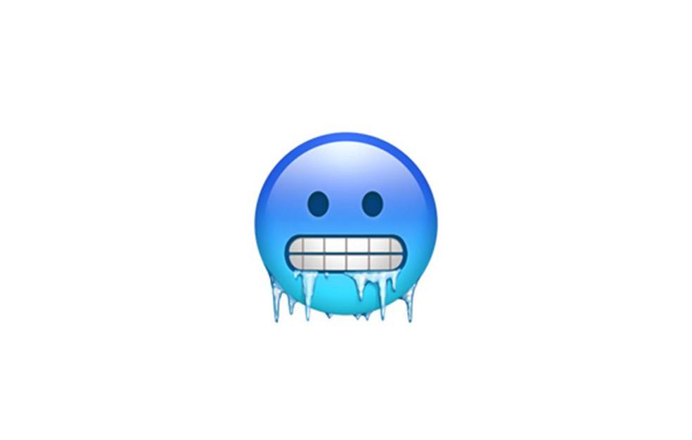 Carinha gelada pode ser usada em situações diferentes — Foto: Reprodução/Emojipedia