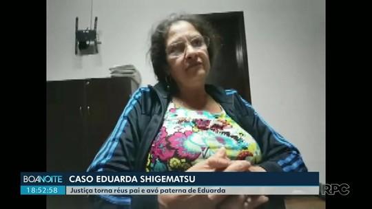 Ré por homicídio e ocultação de cadáver, avó de Eduarda Shigematsu deixa a prisão