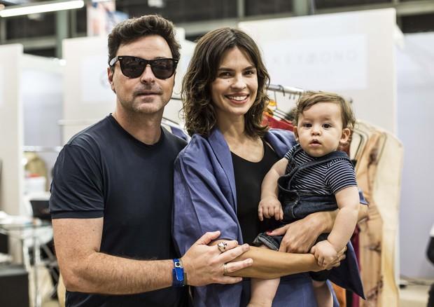 Emilio Ociollo Netto com Mariana e Lorenzo (Foto: Hermes de Paula)