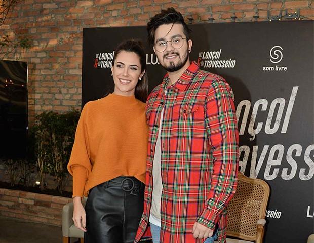 Luan Santana e Jade Magalhães (Foto: Francisco Cepeda/AgNews)