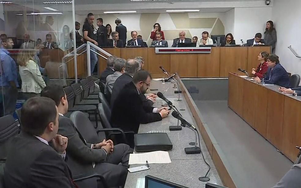 Primeira reunião do projeto Assembleia Fiscaliza, da Assembleia Legislativa de Minas Gerais — Foto: Reprodução/TV Globo