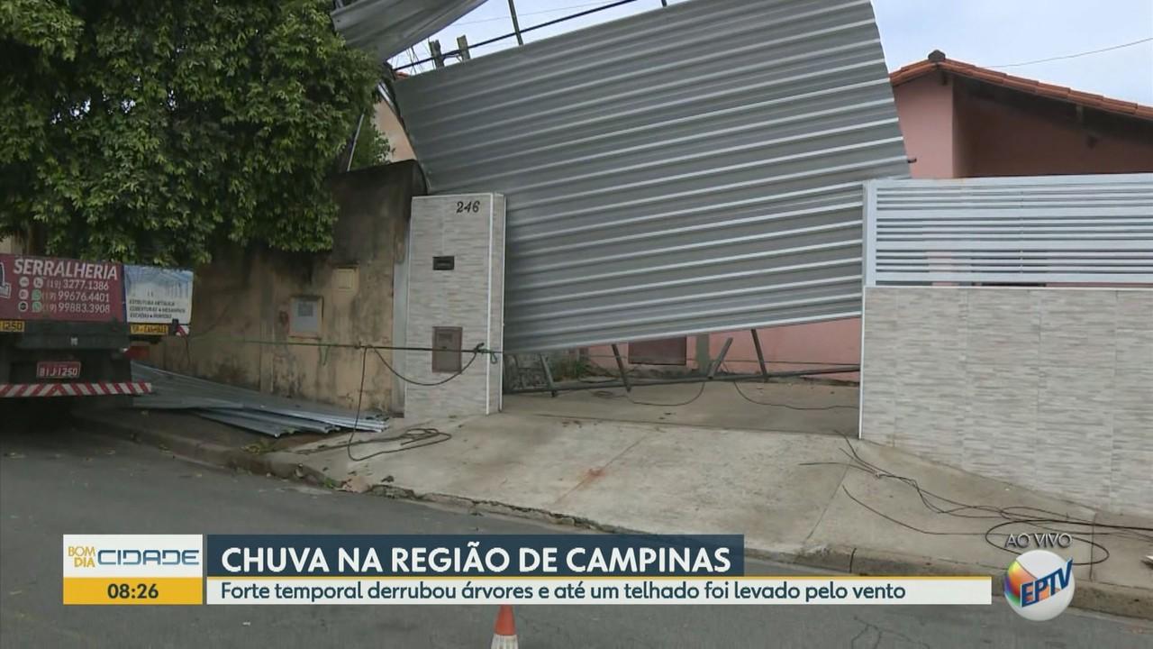 Ventania a 132 km/h faz estragos e traz problemas à moradores de Campinas