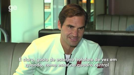 """Federer não se vê com um talento excepcional no tênis: """"As pessoas fazem de mim maior do que sou"""""""