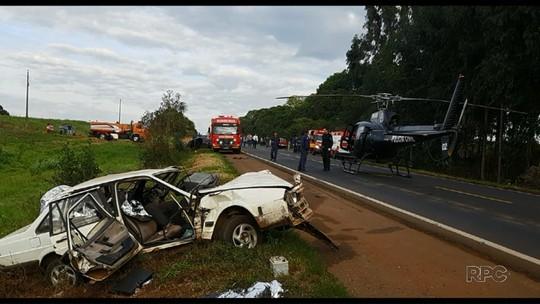Três pessoas da mesma família morrem em acidente no Sudoeste do PR