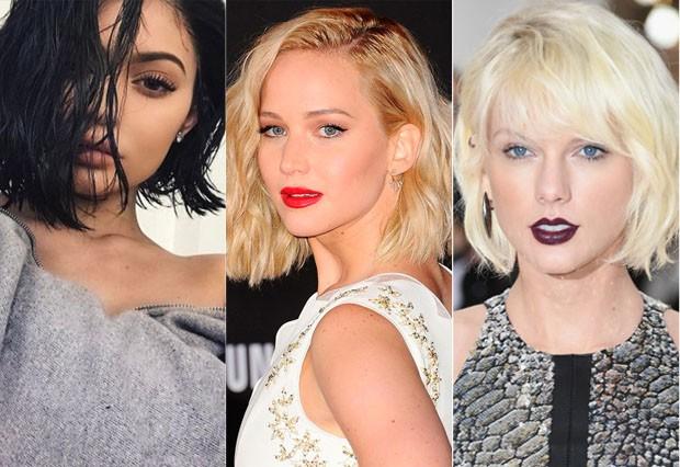 Kylie Jenner, Jennifer Lawrence e Taylor Swift (Foto: Reprodução / Pinterest)
