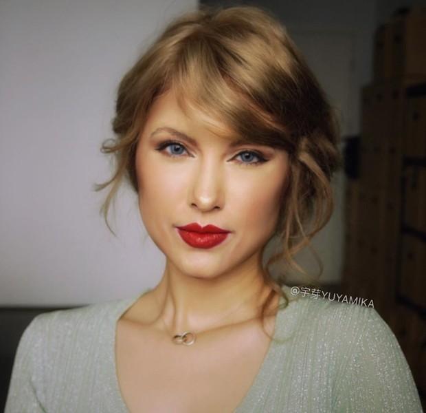 Transformação em Taylor Swift (Foto: Reprodução)